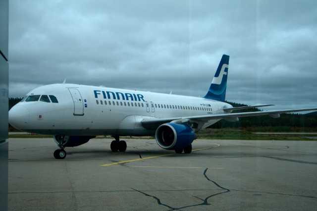 Finnarin lentokone Ivalon lentokentällä
